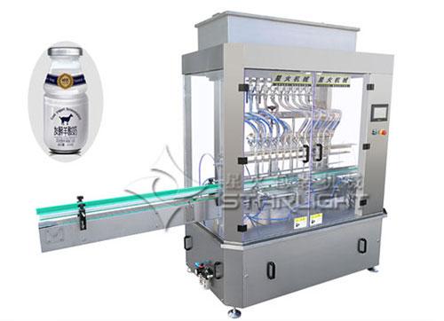 十二頭液體灌裝機-羊奶玻璃瓶灌裝機